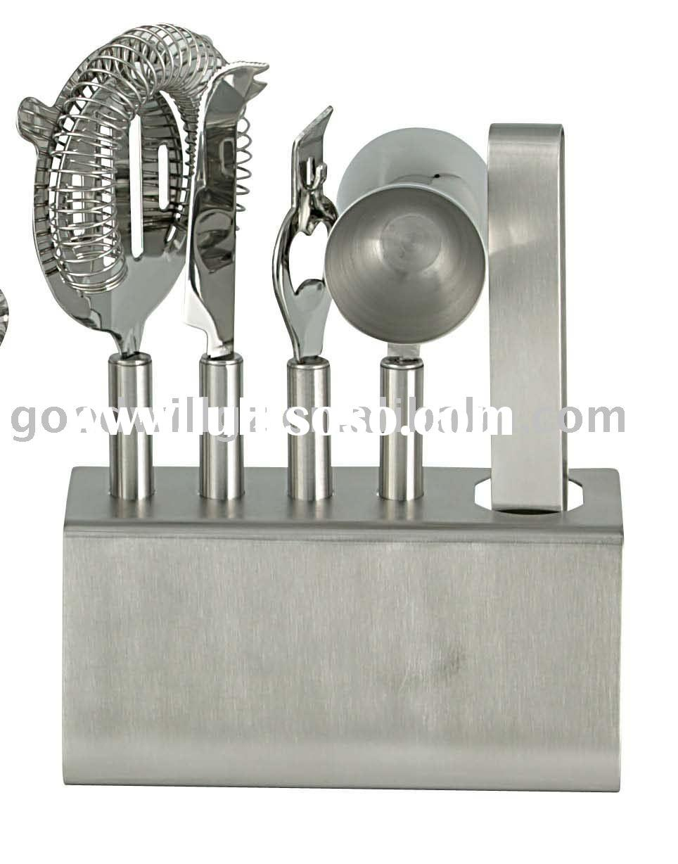 6pcs Stainless Steel Bar Tool Set