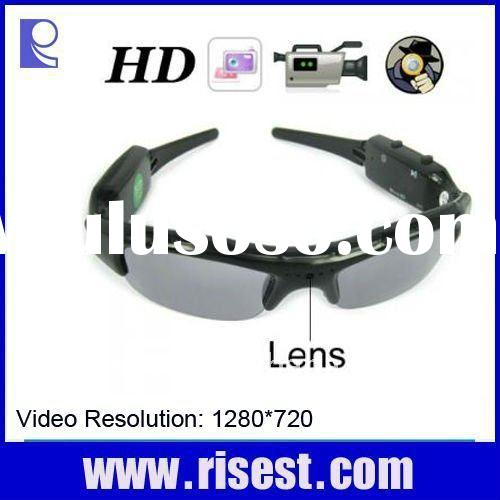 720P HD DVR Hunting Camera Sunglass with Coloful Polarized Glasses Lenses
