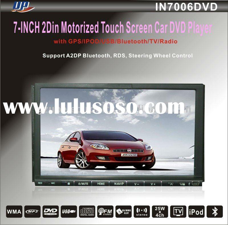 7 inch digital panel double din car dvd player with gps and tv
