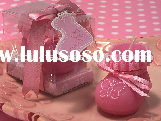 Adorable Pink Butterfly Baby Booty Candle Shower Favors