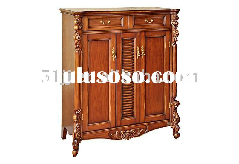 Antique wooden furniture shoe cabinet TY-KXM010