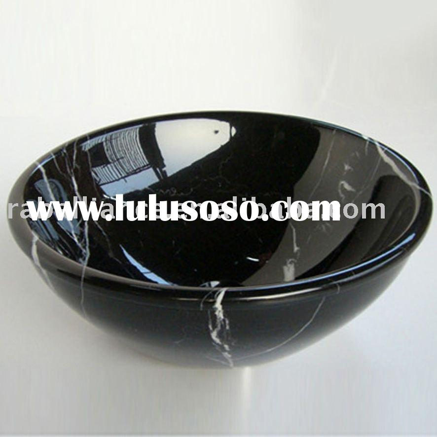 Bathroom sink (marble ,black-white veins)