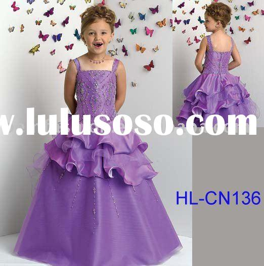 Beautiful flower girl dress/child dress/kid dress HL-CN136