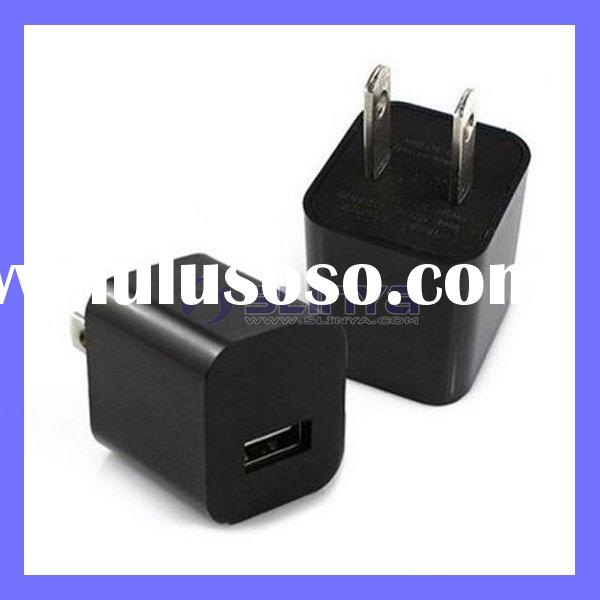 Black USB Power Adapter Wall Charger For Apple iPhone 4 4G 3G 3GS iPod