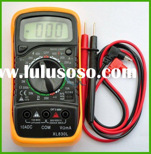 CE Tool DC and AC Voltage, DC Current, Resistance, Diode and Transistor Tester Digital LCD Multimete