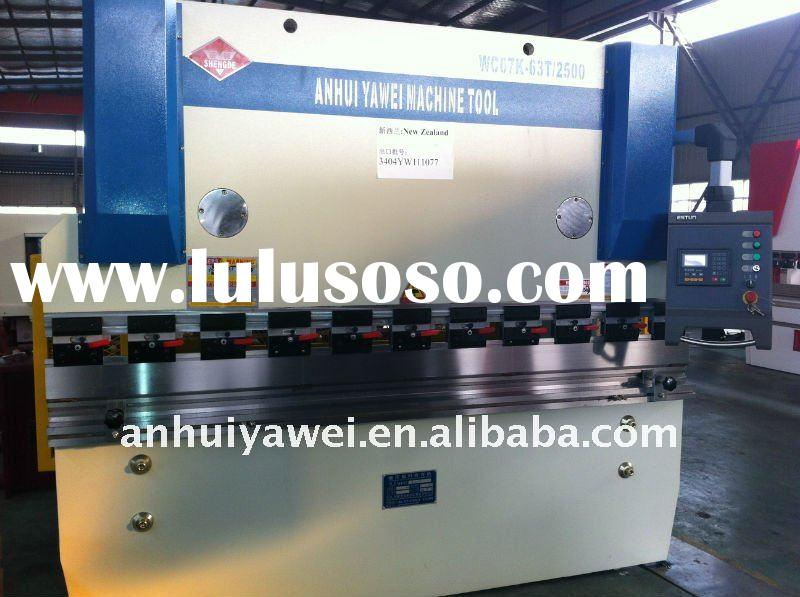 CNC hydraulic plate bending machine, press brake, WC67K series with E200 CNC control system