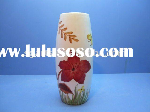 Ceramic Vase W/ red flower