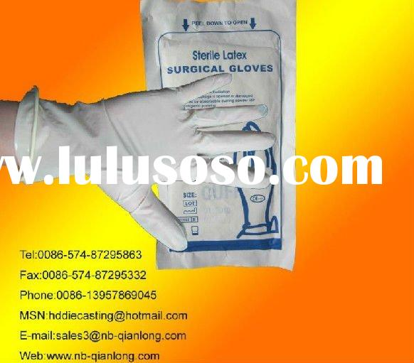 Cheap and good quality disposable latex surgical gloves latex gloves medical