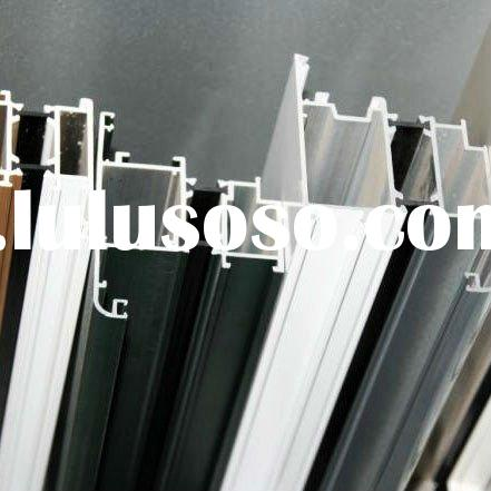 Cheapest factory price aluminum profile for office extrude+ raw material/anodize/powder coating+fabr