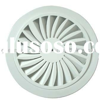 Circular(Round) Ceiling Diffuser(HVAC,air outlet,air grille,air register,air vent,air louver,air dam