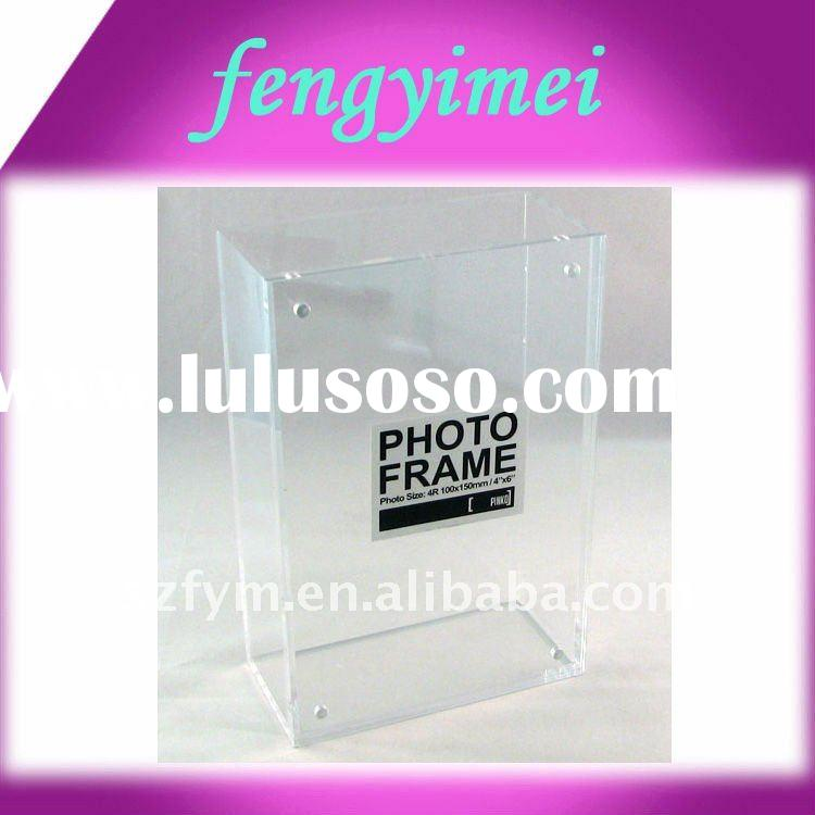 Clear Acrylic Photo Frame Box , Lucite Picture Frame ,Acrylic Photo Frame Display