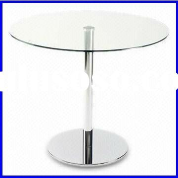 Clear Round Glass Coffee Table