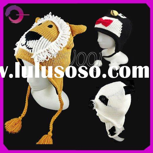 Cute knitted animal winter hats 34