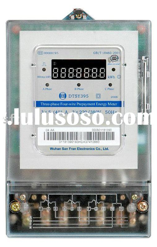 DTS395 Three-phase Four-wire Prepayment Electronic Energy Meter