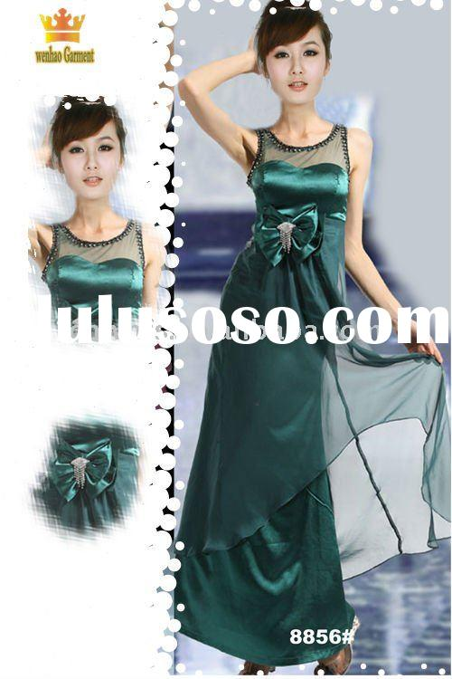 Darkgreen mother of the bride dresses long 8856#