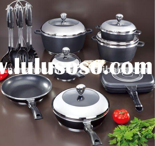 Die-cast aluminum non-stick cookware /set ceramic cookware set