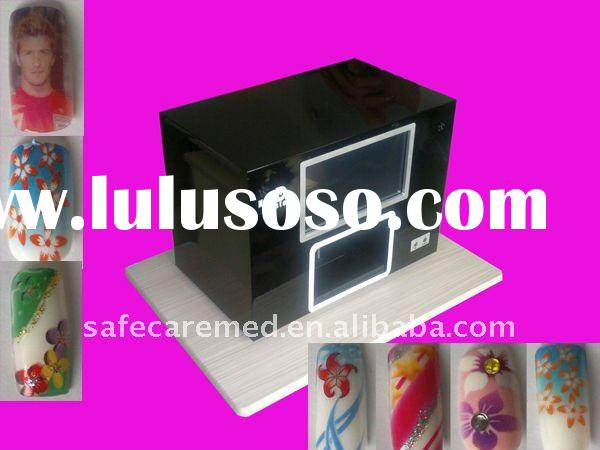 Digital DIY hand nail printer ,Built-in PC,Full touch screen,5 nails one time,New Software preload.