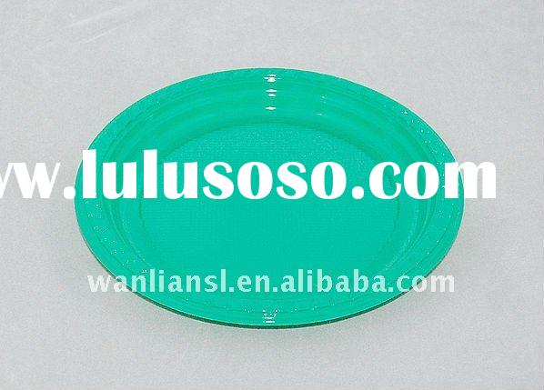 Disposable colorful plastic plate/party plate