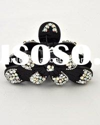 Elegant black crystal big hair claw clip (HOT )