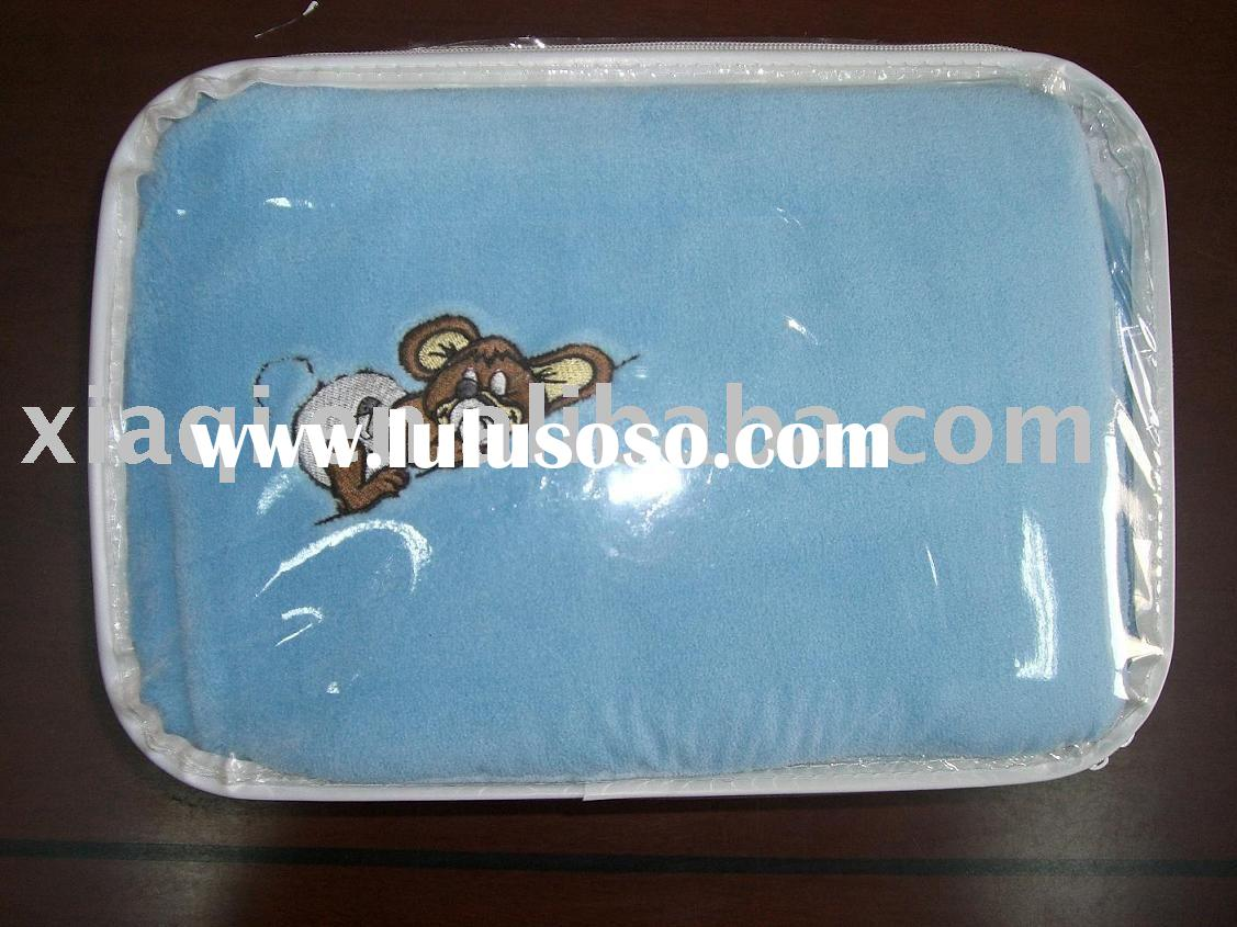 Embroidery solid microfiber bed sheet with rubber band