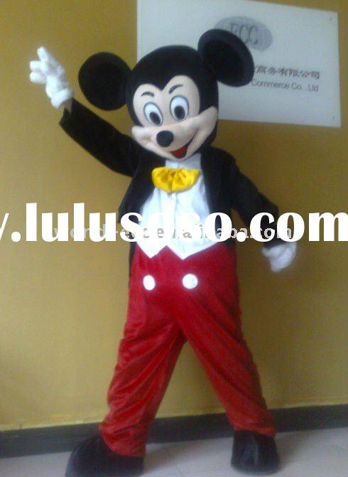 Eva and plush adult mickey mouse mascot costumes