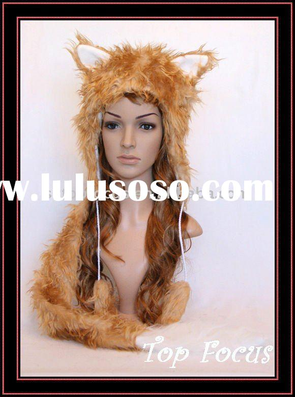 FLUFFY SPIRIT GOLD FOX PLUSH ANIMAL EARS WINTER HAT