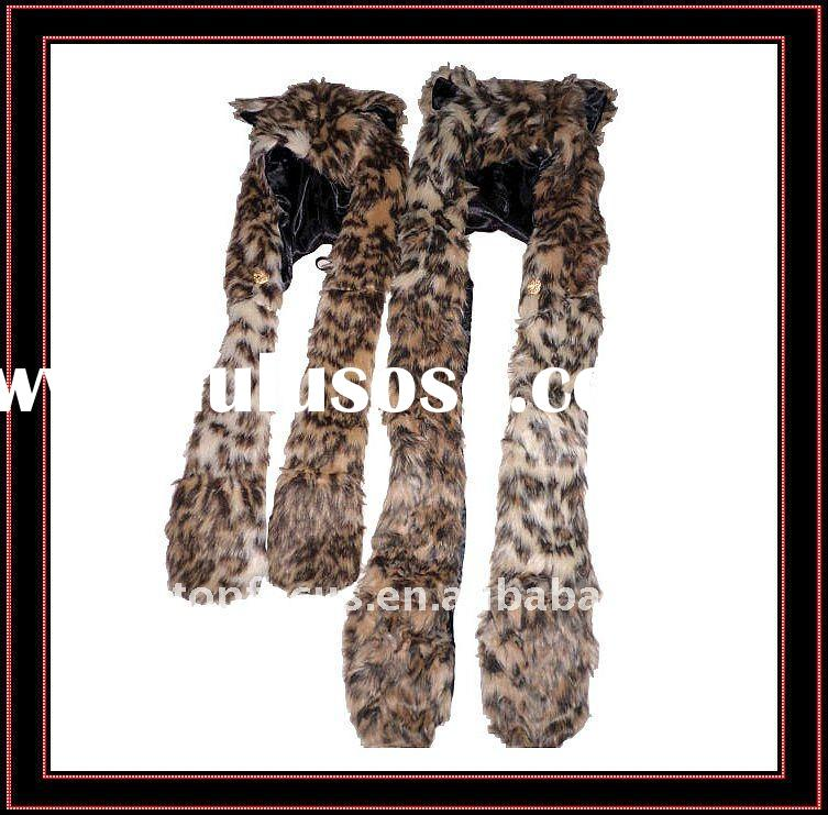 FUNNY ANIMAL WINTER HAT ADULT AND KID'S SIZE LEOPARD
