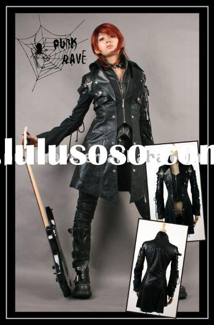 Fashion Gothic Leather Long coat Y-349 From Punkrave