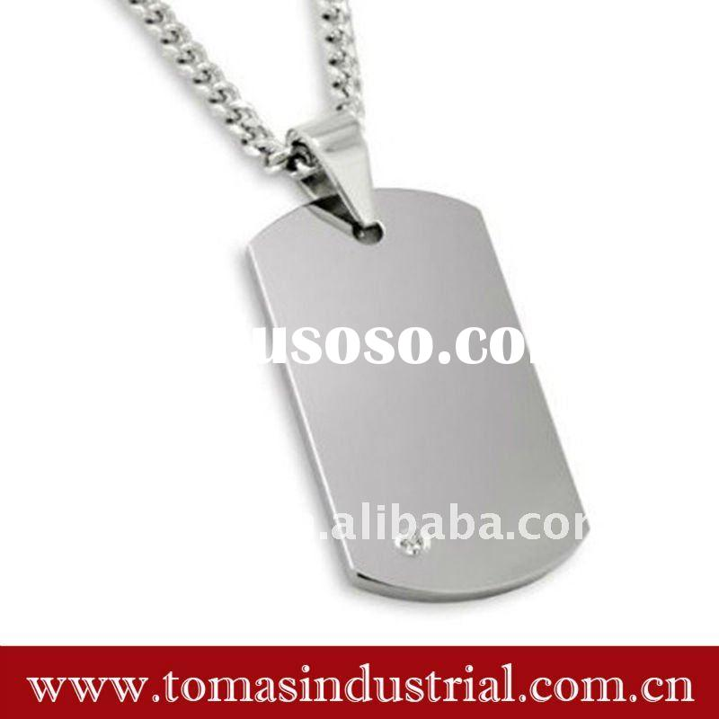 Fashion blank metal tags with chain