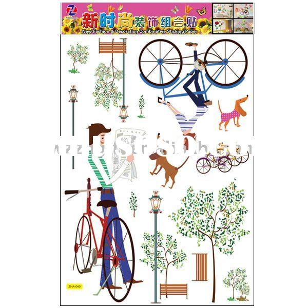 Fashion home decor removable vinyl wall stickers