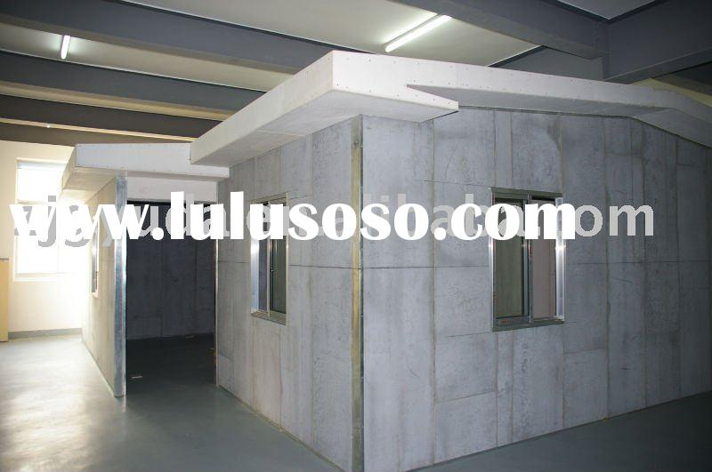Fiber cement board+EPS sandwich panel for movable house