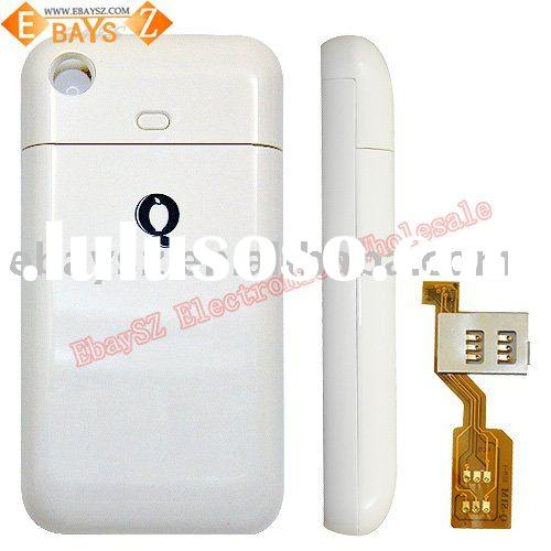 For iPhone 3 Mobile Dual Sim Adapter Battery Case