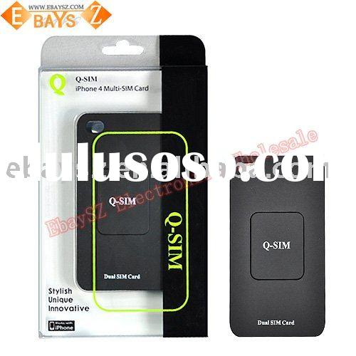 For iPhone 4 Dual Sim Adapter Case,Use 2 SIM on your Mobile