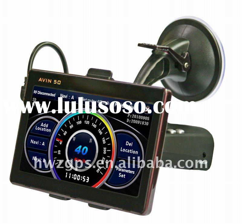 GPS A5.0 With 5.0 inch car gps navigator for both mobile and fix speeding camera detected Model M5.0