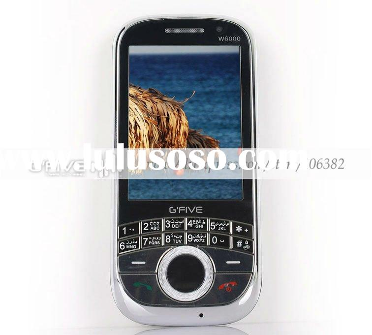 G'FIVE W6000 smart dual sim dual camera mobile phone 2.6 inch QVGA touch screen cell phone w