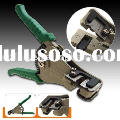 Green Squeeze Handle Wire Stripper Pliers Crimping Tool