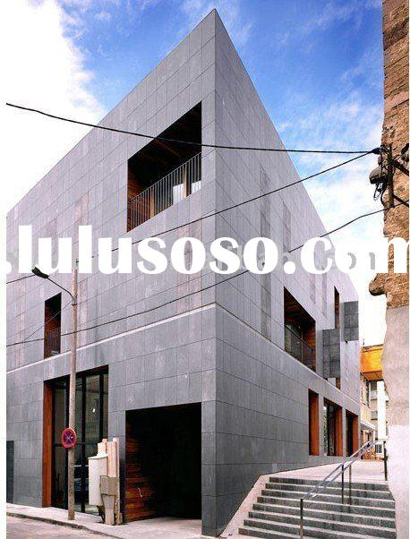Grey basalt stone for exterior wall cladding