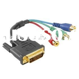 HDTV DVI TO RCA CABLE DVI I CABLE HD DVI CABLE 18+1 24+1 DVI-D DVI-A GOLD PLATED MINI DVI MICRO DVI