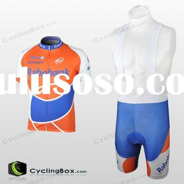 HIgh quality Quick Dry bicycle clothing with bib shorts for wholesales/cycling uniform/cycling jerse