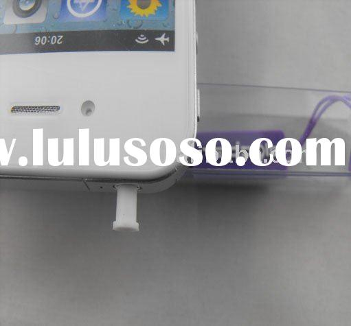 Headphone Jack Dock Plug Dust Cover for Apple iPhone 4g mobile phone accessory