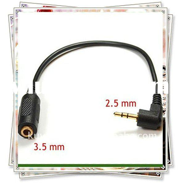 High Quality Gold Plated 50cm 3.5mm female to 2.5mm male Audio Plug Jack Converter Cable New