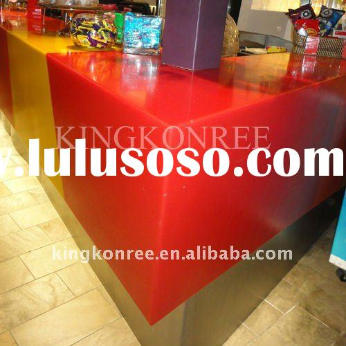 High-end Corian acrylic solid surface reception desk