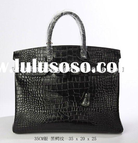 High quality crocodile skin Women Leather handbag