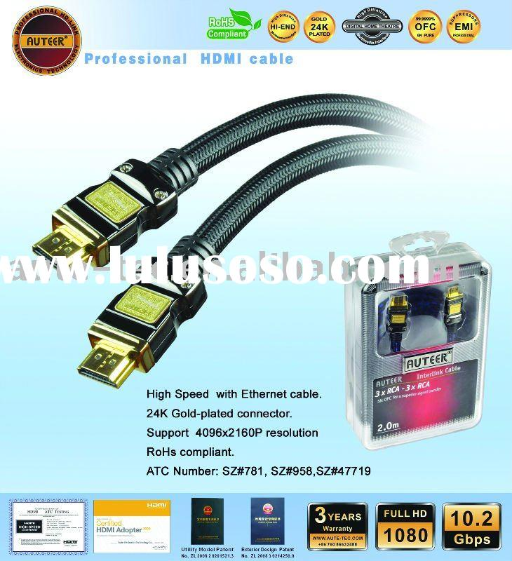 Hingh speed with Ethernet HDMI CABLE (AT1052-BT)
