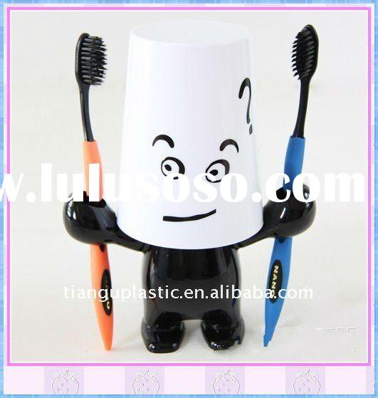 Hot Sale Kids Cartoon Plastic Toothbrush Holder with cover