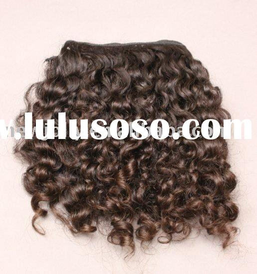 Indian kinky curly remy human hair wefts,sample order is accepted