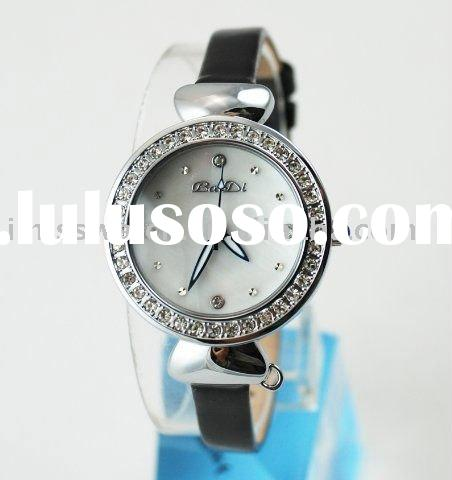 Japan movt/leather band/Water Resistant/fashion design/high quality ladies watch