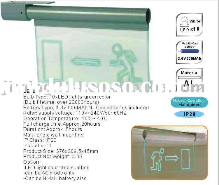 LED Rechargeable Emergency Exit Signs/exit lights-LE296: energy saving and more brighter, Power fail