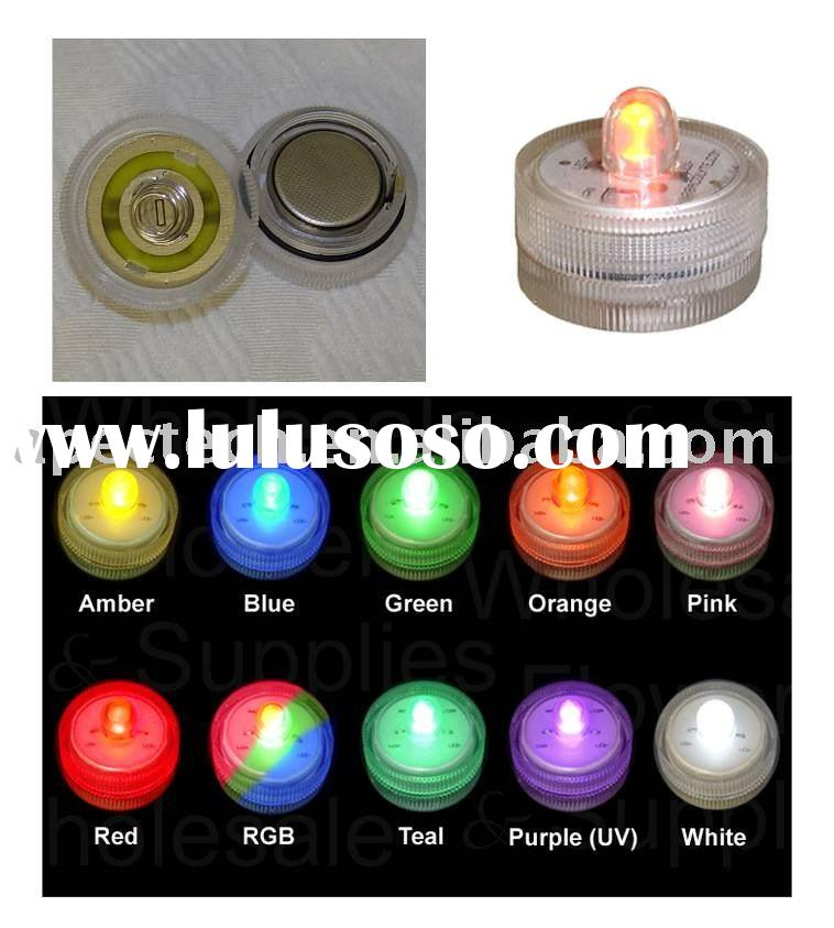 LED candle lamp, submersible led light, purple/UV light CL001