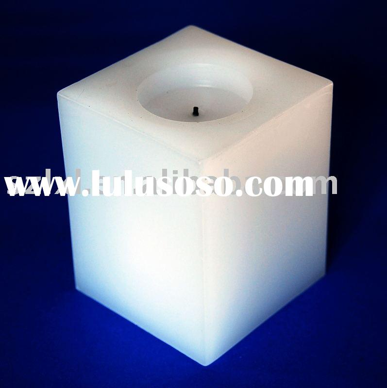 LED square candle/Real Wax LED Square Pillar Candles